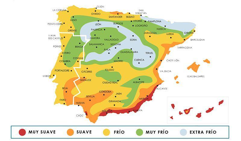 Zonas Climáticas España